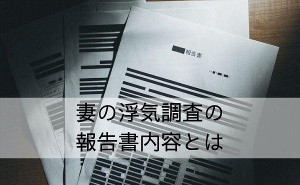 各探偵社による調査報告書内容の違い