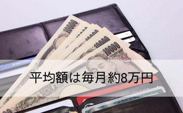 平均額は毎月約8万円